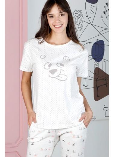Hays Friendly Kadın Puan Baskılı Penye Kapri Pijama Takımı Lila